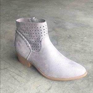Soda Women's Western Ankle Boots in Grey